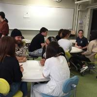 Meeting with students at Kyoto Koka Women�s University